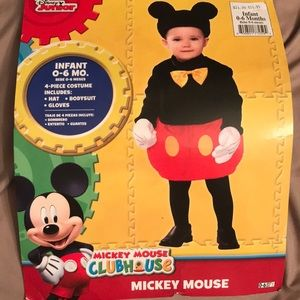 Mickey Mouse costume for 0-6 months
